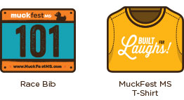 Race Bib & MuckFest MS T-Shirt