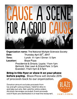 Blaze Pizza Fundraiser Flyer