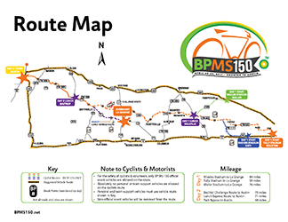 2017 BP MS 150 Route Overview