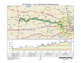 2017 BP MS 150 Routes Turn-by-Turn