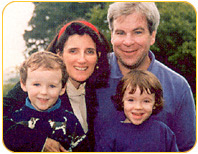 Mary Elizabeth with her husband, Patrick and their twins, Aidan and Aisling