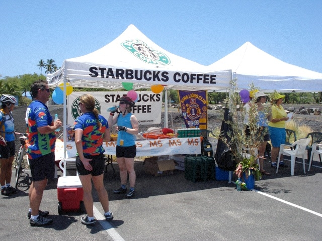 Starbucks tents at event