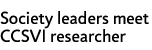 Society leaders meet CCSVI researcher