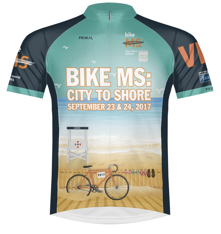 2017 PAE Bike MS City to Shore VIP Jersey