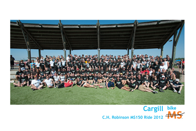 Cargill Bike MS team