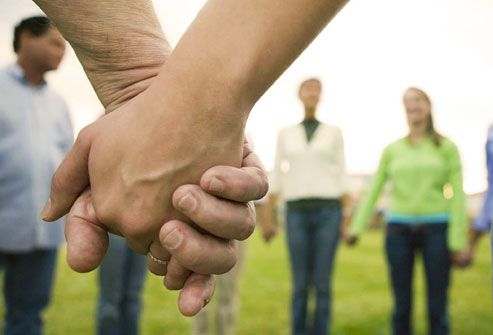 ILD MS Support Group holding hands