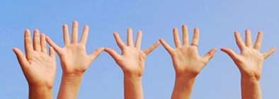 ILD Volunteer Hands Raised