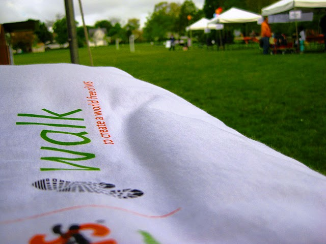 ILD Walk MS Joliet banner on grass