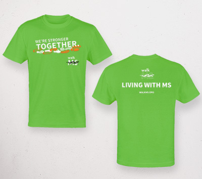 Living with MS program Tshirt