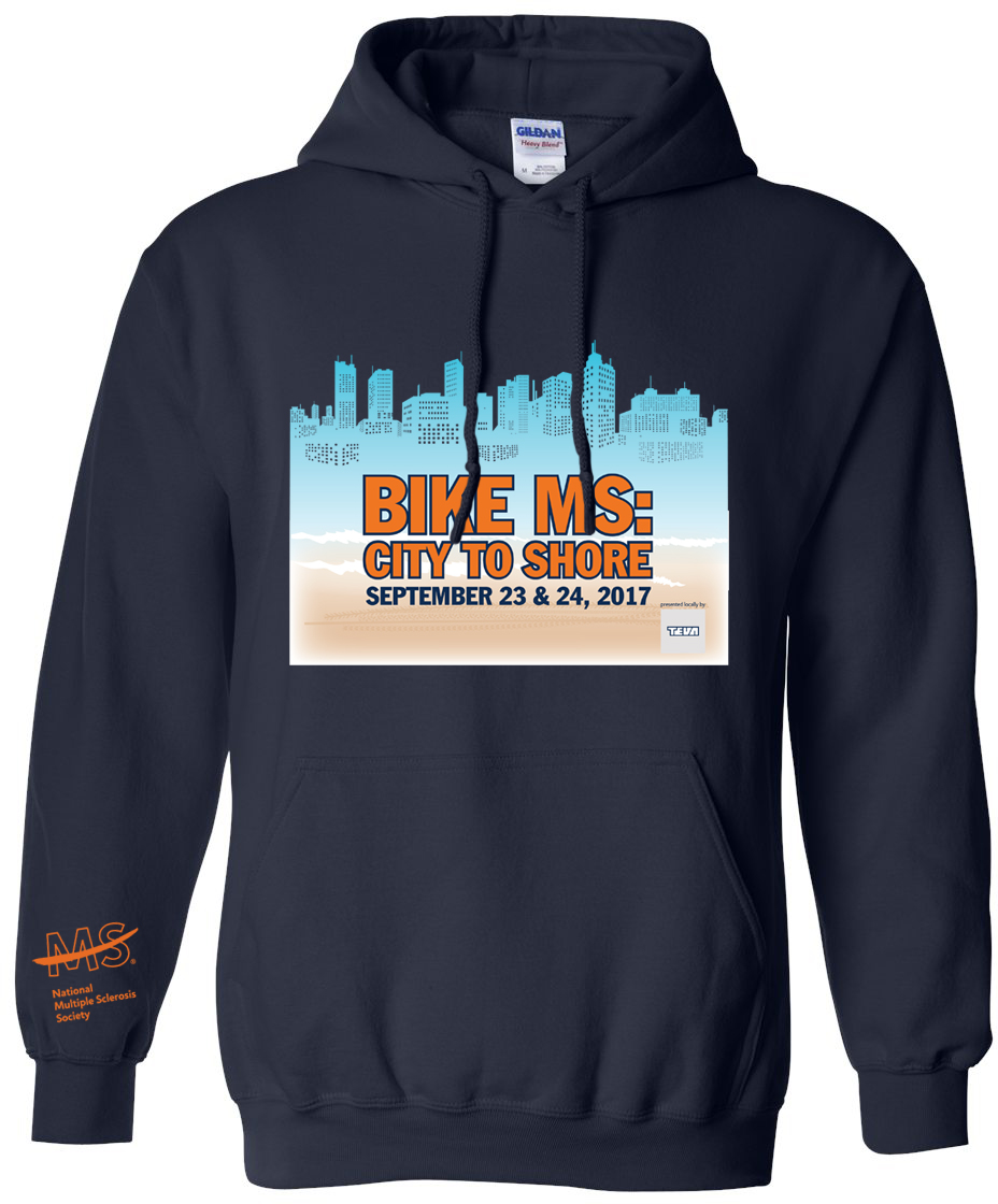 2017 PAE Bike MS City to Shore Sweatshirt