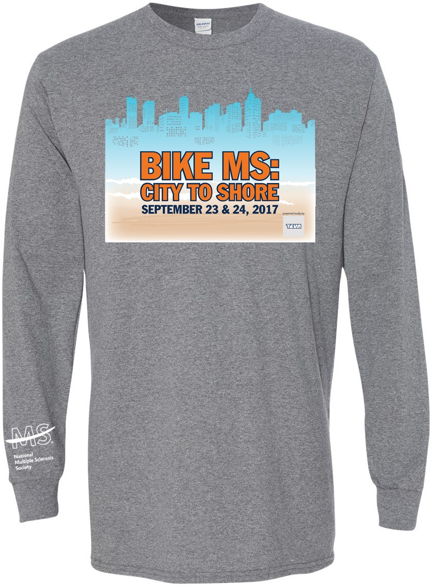 2017 PAE Bike MS City to Shore Long Sleeve