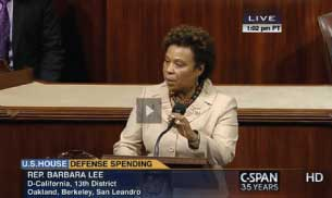 Representative Barbara Lee