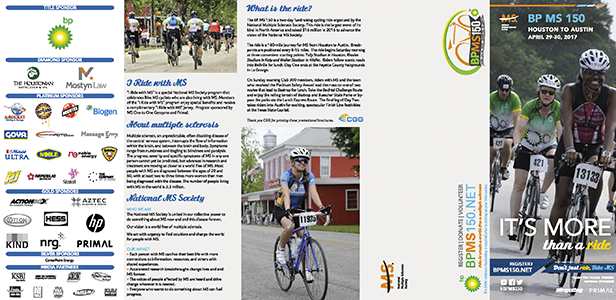2017 BP MS 150 Informational Brochure