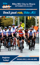 PAE 2017 Bike MS City to Shore Trading Card
