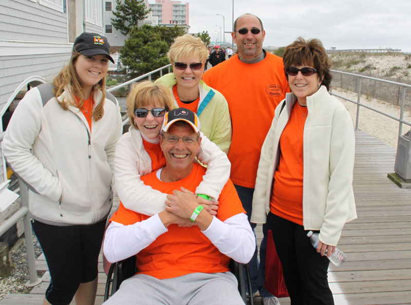 Walk MS group on boardwalk