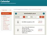 New! Web Calendar