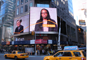Times Square New York with MS Society advertisement