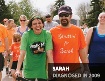 Sarah, diagnosed in 2009