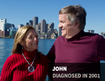 John, diagnosed in 2001