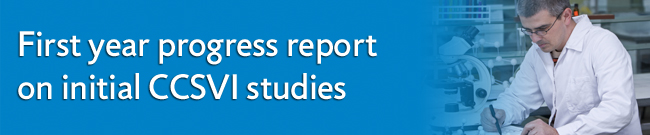 First year progress report on initial CCSVI studies