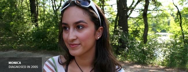Banner - Monica, Diagnosed in 2005
